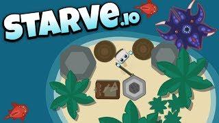Starve.io - Island Base Kraken Attack! - Let