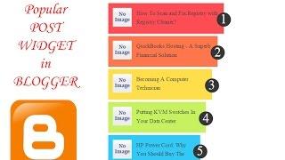 how to add fancy popular post widget in blogger