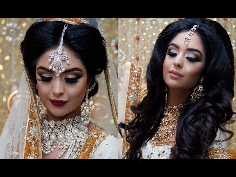 Traditional VS Contemporary Asian Walima Bridal Makeup | Smokey Eyes |  Photoshoot