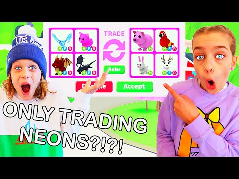 ONLY TRADING NEON PETS Adopt Me Roblox Gaming w The Norris Nuts
