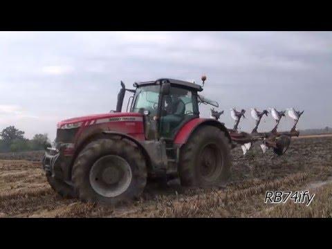 Massey Ferguson 8690 & Pottinger Servo 45S Plus - Ploughing 2015