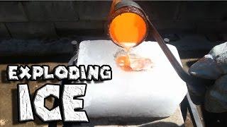 Molten Copper vs Ice Exploding Ice