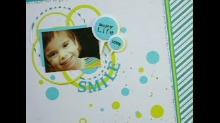 How to: Create a simple, modern and easy Scrapbook Layout