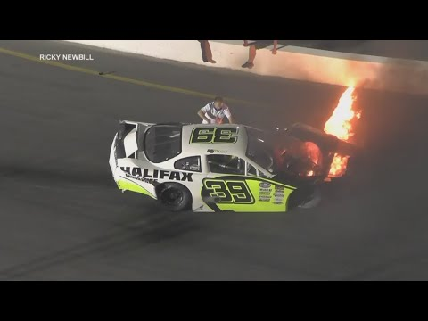 Xxx Mp4 Father Rescues Son From Fiery NASCAR Crash 3gp Sex