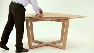 SEER table in oak  amazing expanding table