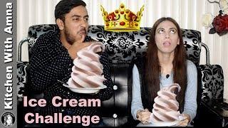 Chilli Ice Cream Challenge Sis vs Bro - Food Challenge - Kitchen With Amna