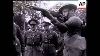 Sir Alan Brooke Inspects US Troops In Northern Ireland With General Hartle.