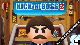 Kick the Boss 2 Gameplay 4 All Weapons Maxed