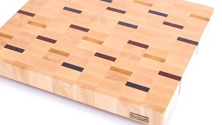 Making an end grain cutting board with colored strips