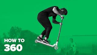 Как сделать 360 на самокате (How to 360 on a scooter)