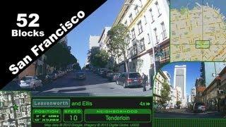 Narrated sightseeing drive, 52 blocks of San Francisco