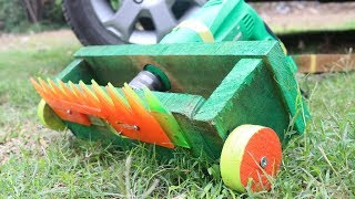 How to make a lawn grass trimmer from drill machine. Easy diy.