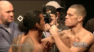 UFC on FOX 5: Benson Henderson and Nate Diaz Weigh-in + Staredown (complete + unedited)