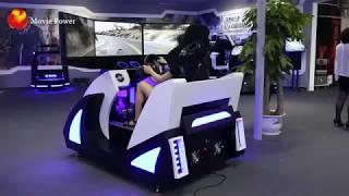 Three display car driving simulator vr racing car