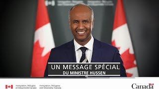 Message du ministre Hussen à l'occasion de la Journée mondiale des réfugiés