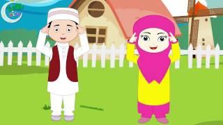 Head Shoulders Knees and Toes in Urdu | Urdu Nursery Rhyme