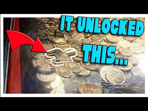 WON THE MYSTERY KEY IN THE COIN PUSHER