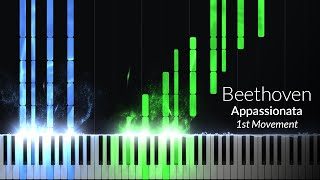 Appassionata 1st Movement - Opus 57 No. 23 [Piano Tutorial] (Synthesia)
