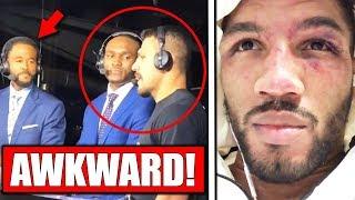 Kamaru Usman & dos Anjos have awkward encounter at UFC Rochester, Kevin Lee on loss to RDA