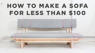 DIY Sofa   How to make a No-Sew sofa for under $100