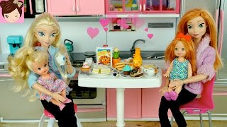 Mother's Day Special with Frozen Elsa & Anna Babies Cooking Surprise  Breakfast - Titi Toys & Dolls