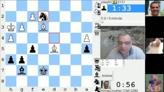 LIVE Blitz #3458 (Speed) Chess Game: Black vs yoey03 in ing's Indian: fianchetto, Larsen system