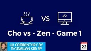 LIVE Cho Chikun (b) 9p vs DEEP ZEN GO (w), game 1/3, commentary by Myungwan Kim 9p!