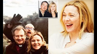 Kim Cattrall attends her late brother