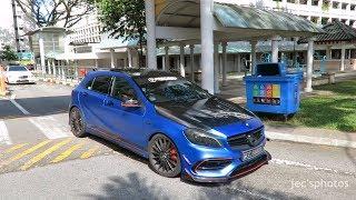 Mercedes-Benz A45 AMG w/ Fi Exhaust - Startup & Short Accelerations!