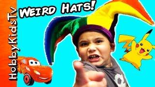 Crazy Hat Store! Jester + Pokemon Cap, Lightning McQueen King Crown HobbyKidsTV