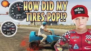 POPPING CAR TIRES IN RACE TROLLING! (GTA 5 Mods)