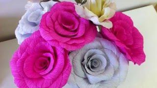 Como Hacer Flores de Papel Crepe