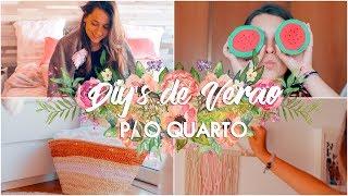 DECORAÇÃO: DIY'S DE VERÃO P/ O QUARTO 🌸   Adriana & Ilda