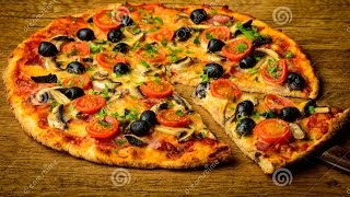 Chicken Tikka Pizza (Oven & Fry Pan) By Sehar Syed.