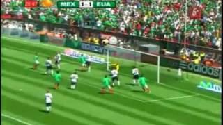 Mexico vs Estados Unidos 2-1 estadio azteca
