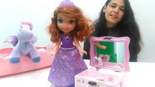 Prenses Sofia için internetten alışveriş yapıyoruz. Oyuncak kahvaltı setiyle oyun. #Kızoyunları