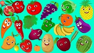 Learn Fruits and Vegetables for Kids in Urdu | پھل اور سبزیاں | Preschool Learning for Children