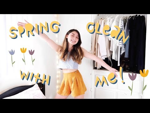 spring cleaning my closet 🌻