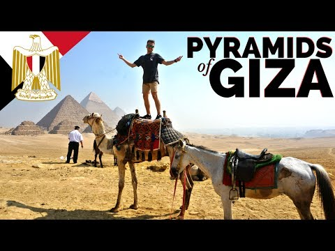 the MOTHER FREAKING PYRAMIDS OF GIZA // Egypt Travel مصر
