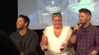 Jibcon8 - Jensen and Misha panel (part1) HD