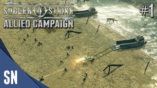 Battle #1: Operation Overlord - Sudden Strike 4 - Allied Campaign Gameplay