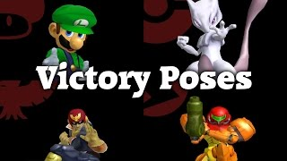 Super Smash Bros. Melee - All Victory Animations (Full HD 60fps)
