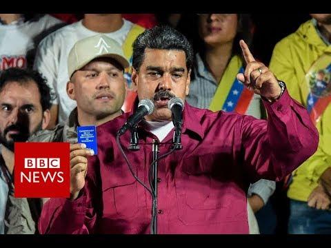 Venezuela's Maduro wins re-election - BBC News