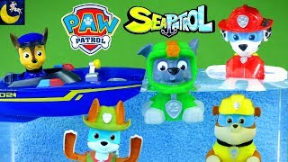 Lots of Paw Patrol Bath Time Toys Sea Patrol Water Squirters Boats Paddling Pups Marshall Chase Toys