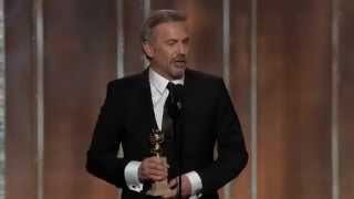 Kevin Costner Wins Golden Globe 2013 Best Actor - Mini-Series - TV Movie for Hatfields & McCoys