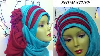 occasional, wedding, party, zigzag hijab style tutorial...