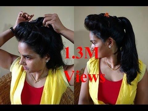 Natural way to make Hair Puff Style at home