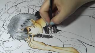 Drawing (coloring / shading) of Kaneki Ken from Tokyo Ghoul