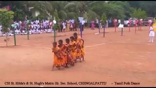 Tamil Christian Folk Dance Manavalan Varaporaru by CSI St. Hilda's & St. Hugh's School