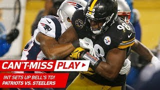 Pittsburgh Picks Off Brady for the 1st Time Since 2005 & Bell